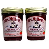 Mrs Millers, No Sugar Seedless Red Raspberry Jam - 2 / 9 Oz. Jars