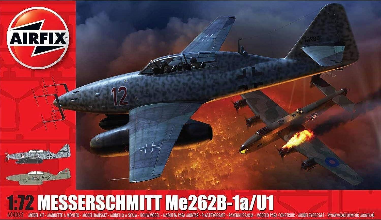 Amazon.com: Airfix AFX04062 1:72 Messerschmitt Me262B-1a/U1 ...