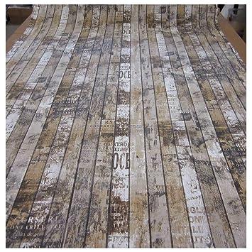 Unbekannt Stoff Meterware Bretter Holz Zaun Shabby Vintage Paneele