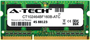 A-Tech 8GB Replacement for Crucial CT102464BF160B - DDR3/DDR3L 1600MHz PC3-12800 Non ECC SO-DIMM 2rx8 1.35v - Single Laptop & Notebook Memory Ram Stick (CT102464BF160B-ATC)