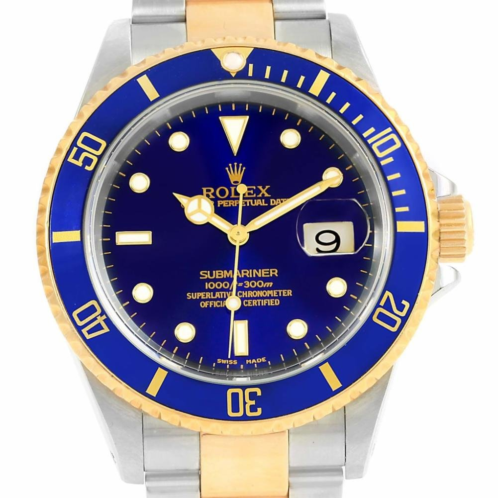 Rolex Submariner automatic-self-wind womens Watch 16613 (Certified Pre-owned)