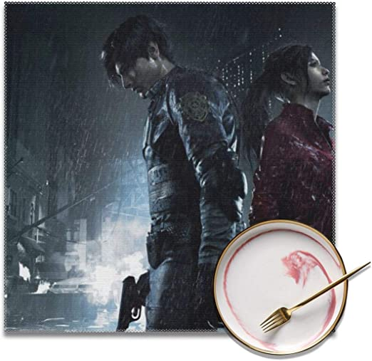 AIMHOUSE Resident Evil - Manteles Individuales Antideslizantes ...