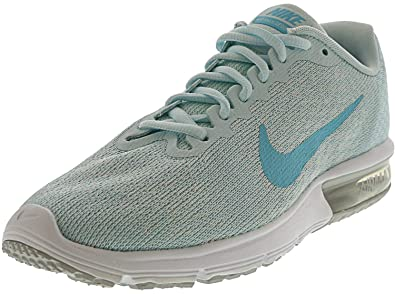 05b85a1b1508 Image Unavailable. Image not available for. Color  Nike Women s Air Max  Sequent 2 Pure Platinum Polarized Blue Ankle-High Running Shoe
