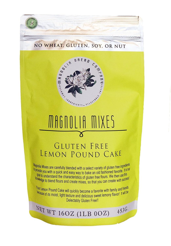 Amazon Com Magnolia Mixes Gluten Free Lemon Pound Cake Mix 16 Oz Each Pack Of 4 Grocery Gourmet Food