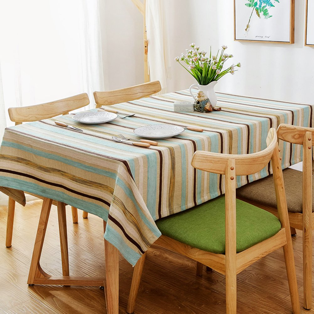 A 5194inch(130240cm) Lattice table covers rural tablecloth dining room antiOil table linen for home hotel cafe restaurantB 5179inch(130200cm)