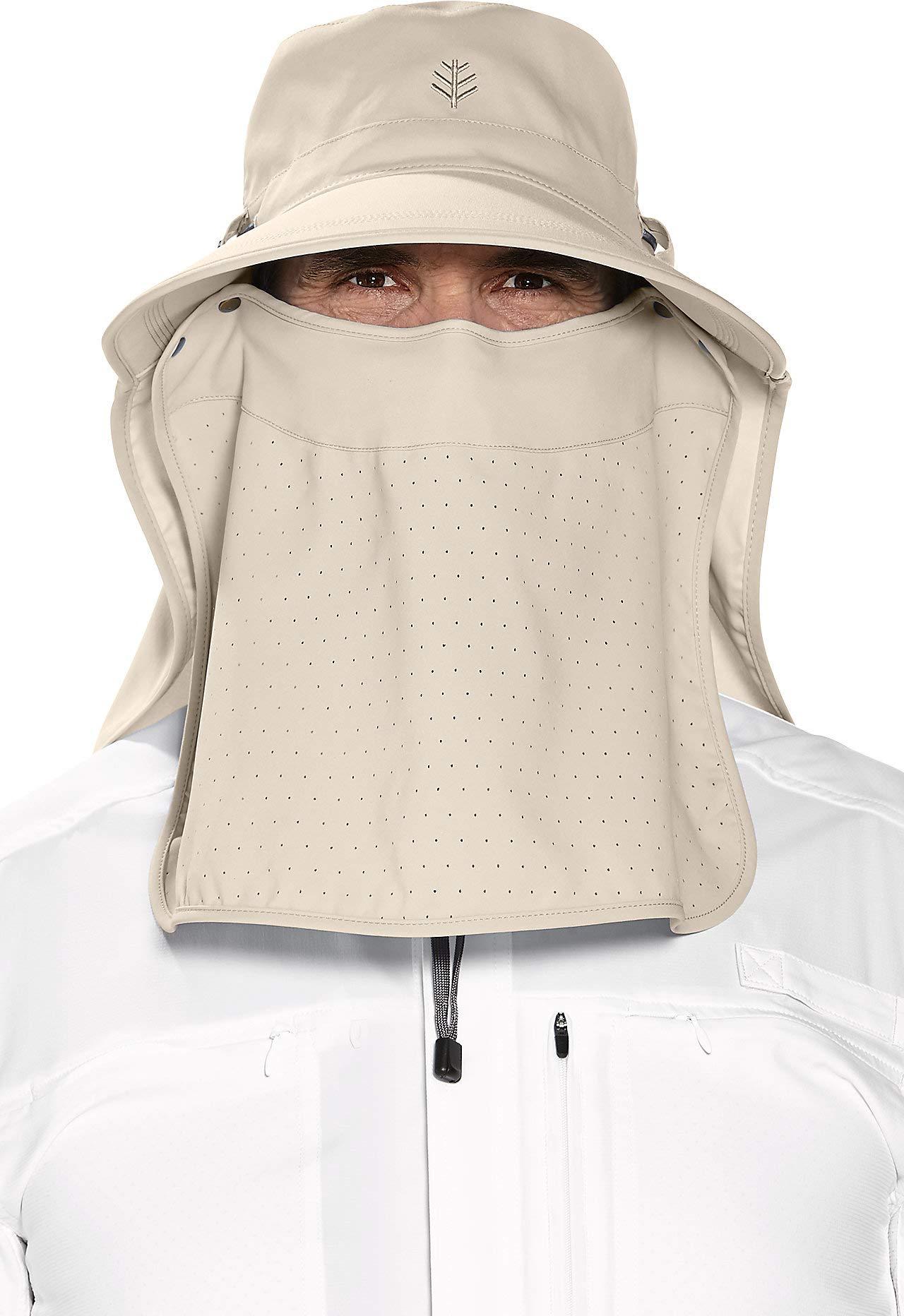 Coolibar UPF 50+ Women's Men's Ultra Sun Hat - Sun Protective (One Size- Stone)