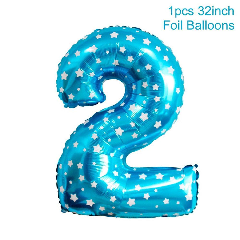 Amazon Greuses Blue Boy 2nd Birthday Decoration Pink Girl 2