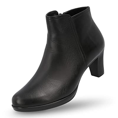MANET Leather Booties for Women - Women's Heeled Ankle Boots Classic Bootie with Heel - Maya Boot | Ankle & Bootie