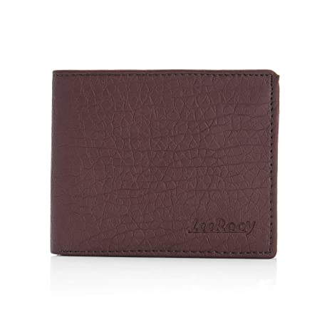 Leerooy's Men's Leather Wallet   Brown
