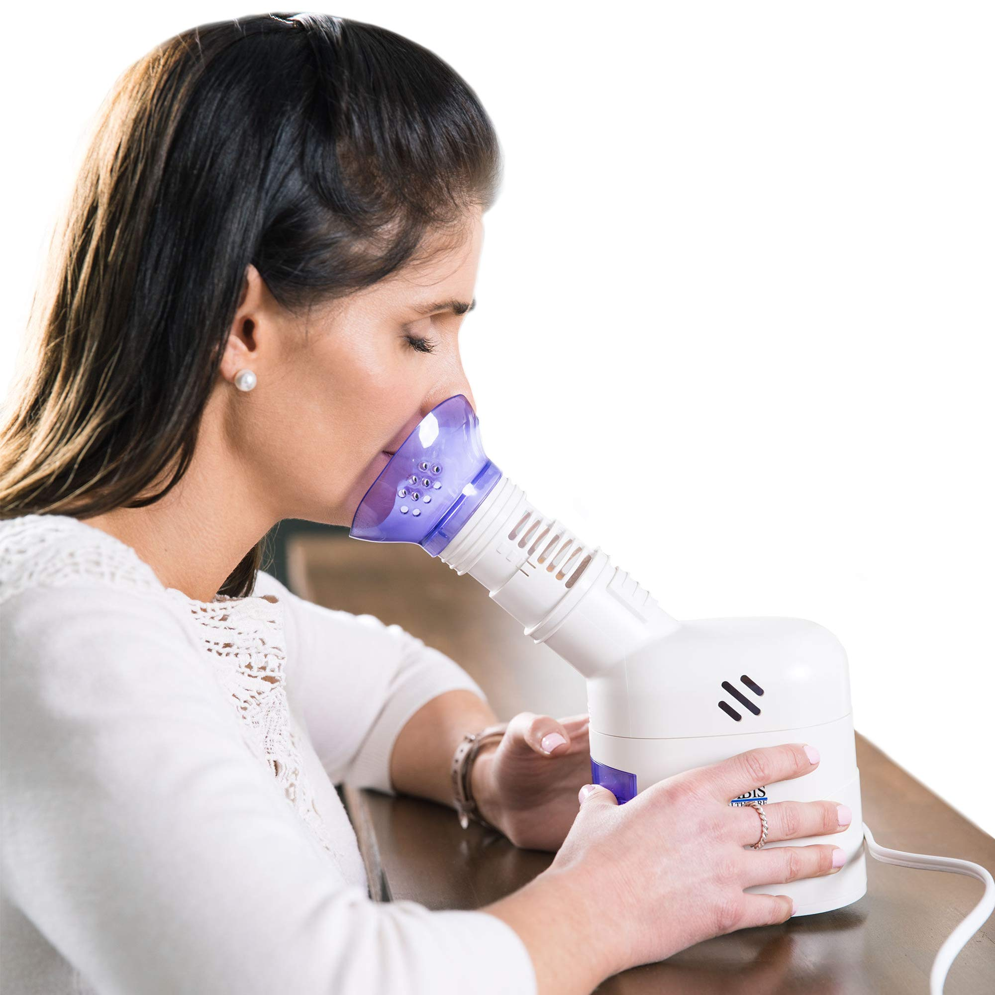 MABIS Personal Steam Inhaler Vaporizer with Aromatherapy Diffuser, Purple and White by Mabis