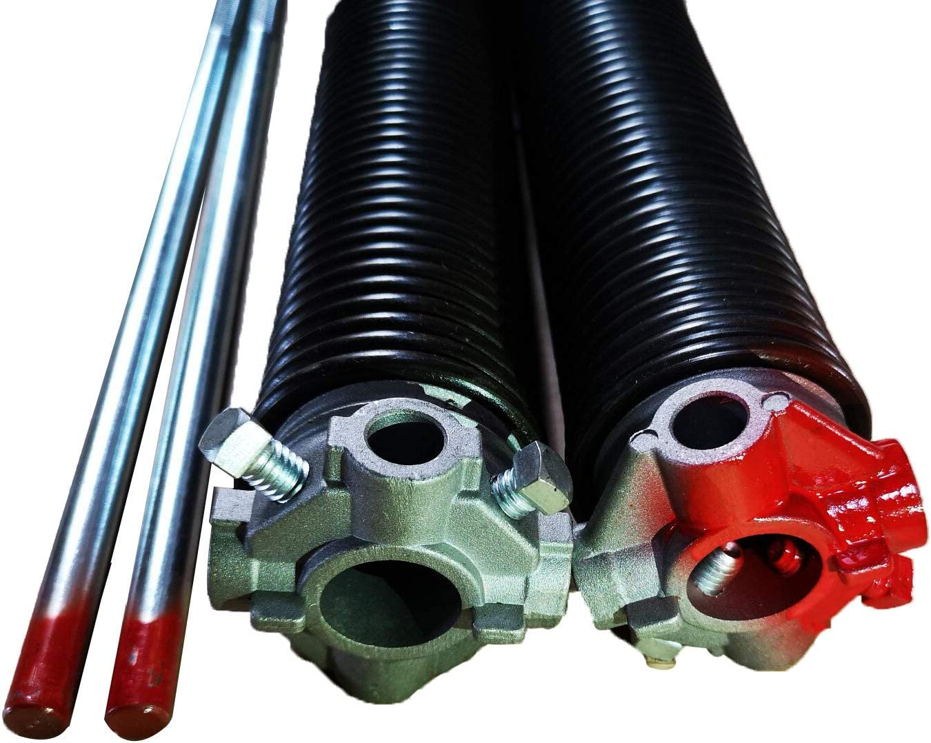 Garage Door Torsion Springs 1.75''(Pair) with Non-Slip Winding Bars, Coated Torsion Springs with a Minimum of 10,000 Cycles (0.225X1.75''X32'')