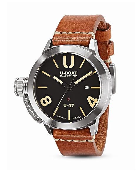 Reloj Automático U-Boat Classico, Acero Inoxidable 316L, Negro, 47mm, 8105: U-BOAT: Amazon.es: Relojes