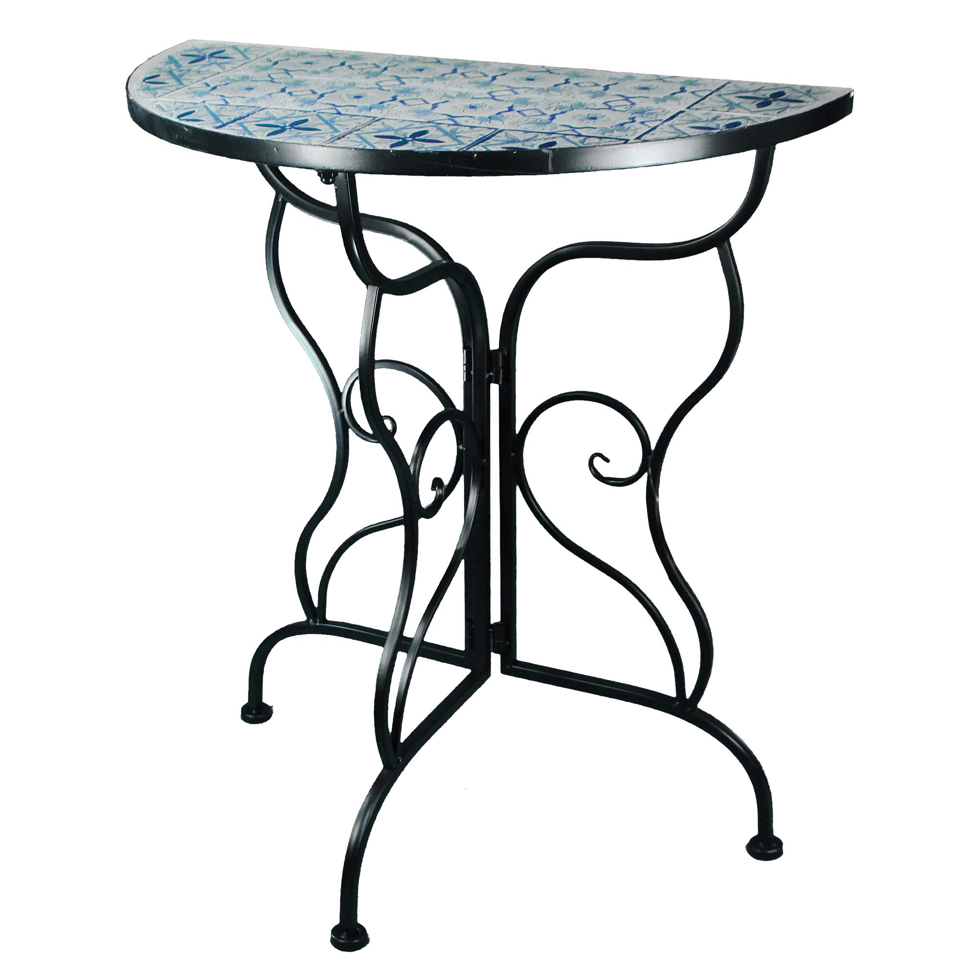 Essential Décor & Beyond Console Table Blue, White and Black