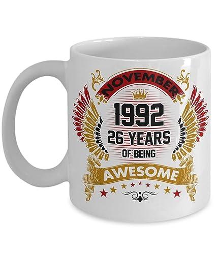 Fun 26th Birthday Coffee Mug Novelty Gift Men Women 26 Year