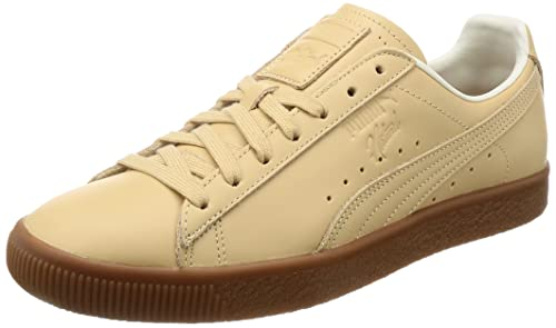 Puma Men s Clyde Veg Tan Naturel Trainers (44.5 EU)  Amazon.co.uk ... c10ba742a