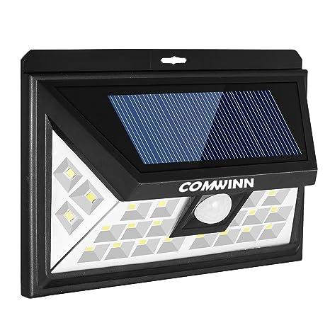 Foco solar con 24 ledes para exteriores, impermeable, inalámbrico y con sensor de movimiento