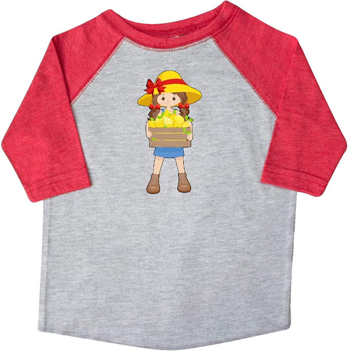 inktastic Farming Girl with Crate of Lemons Toddler T-Shirt