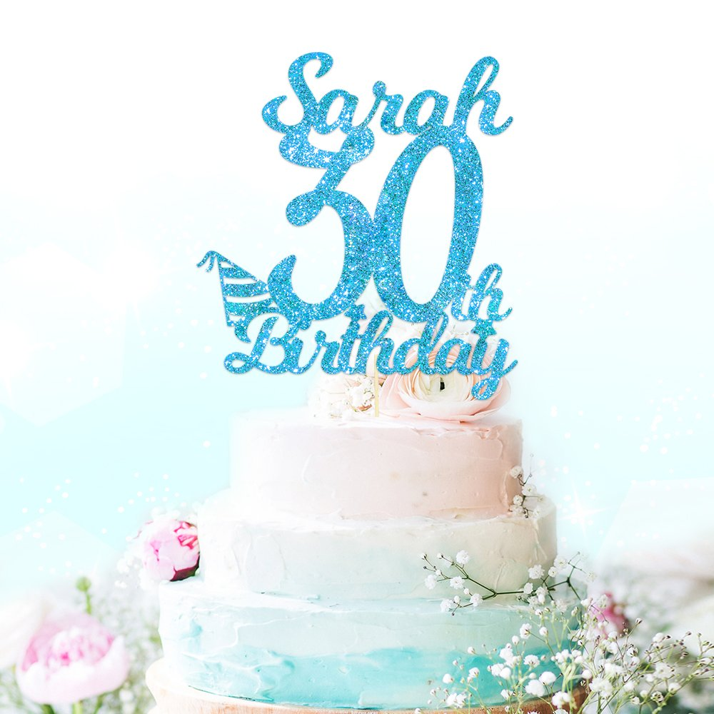 Personalised Happy 30th Birthday Cake Topper