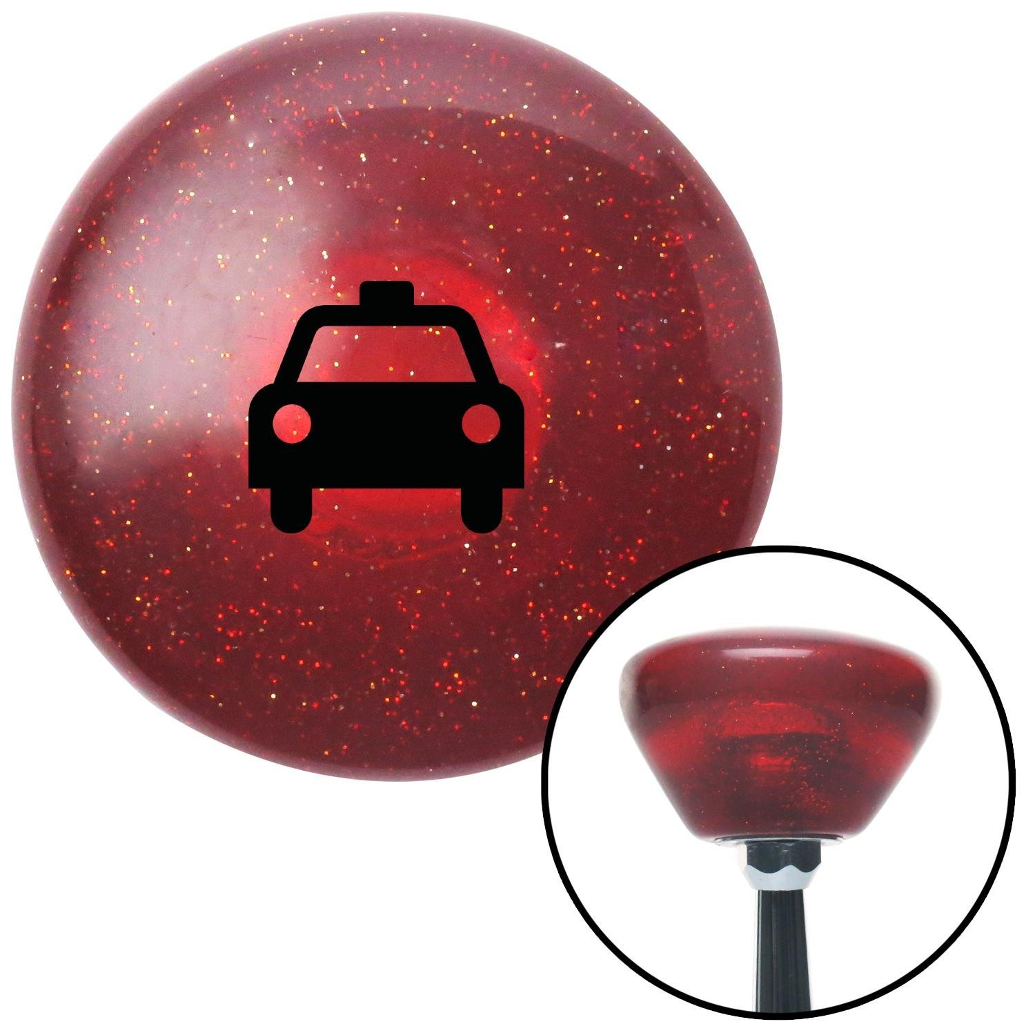 American Shifter 197582 Red Retro Metal Flake Shift Knob with M16 x 1.5 Insert Black Taxi