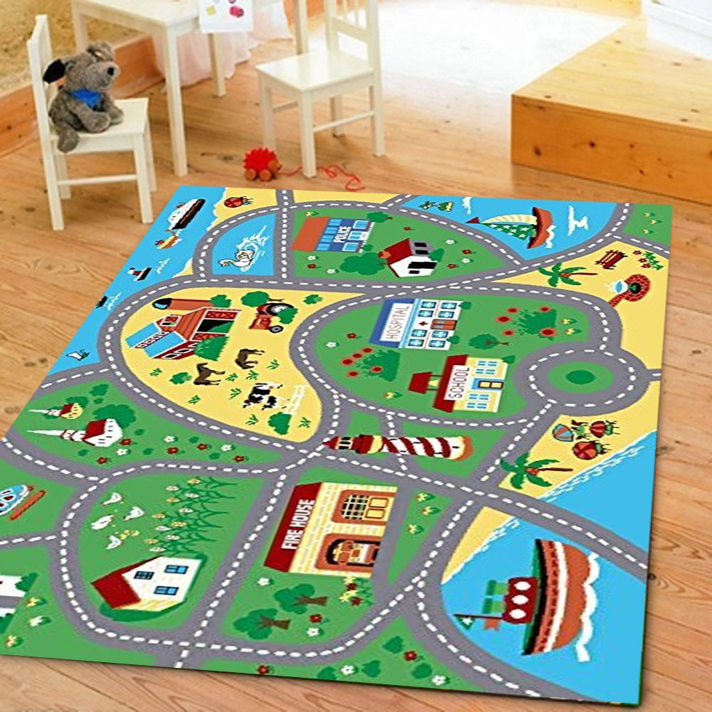Furnish my Place 760 5X7 City Street Map Children Carpet Classrooms Playmate by Furnish my Place