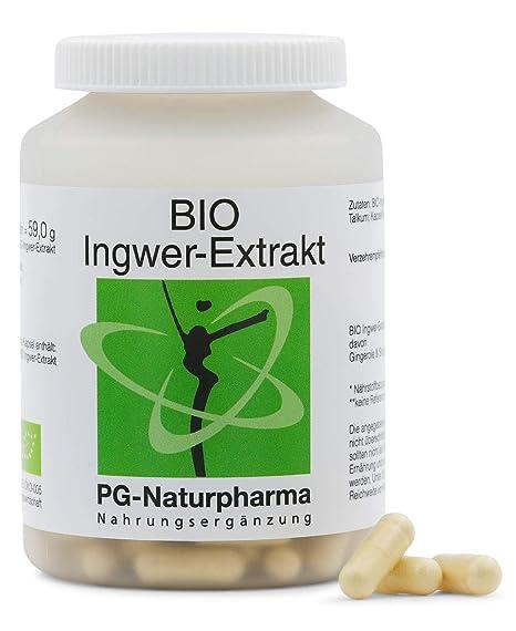 Jengibre capsulas 160 cápsulas (organico) con 300 mg de extracto de jengibre orgánico (