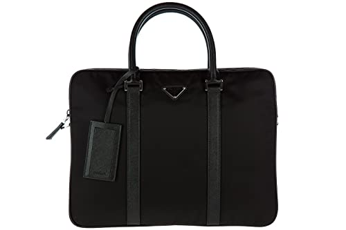 d03a8a1c3b38 Prada briefcase attaché case laptop pc bag Nylon black: Amazon.ca: Shoes &  Handbags