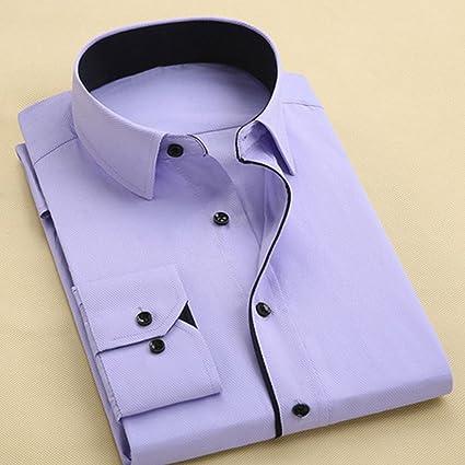 sfittm Hombre Camisa Business algodón Camisas décontracté Mango Larga Morado Claro 4XL: Amazon.es: Ropa y accesorios