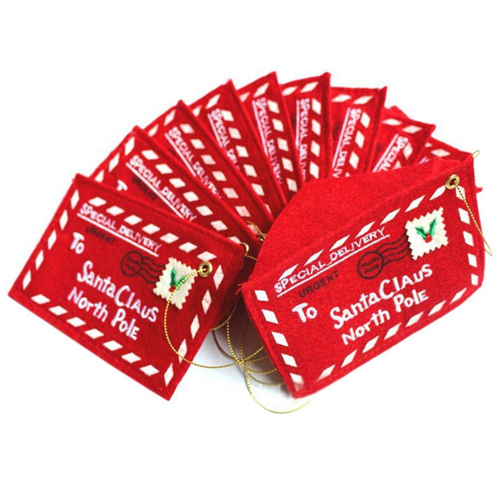 TiooDre 10 Buste Pezzi di Carta Kraft Mini Gift Card Busta con catenaccio del Cuore per Il Regalo di Natale di Carte di San Valentino mestiere di DIY, Rosso
