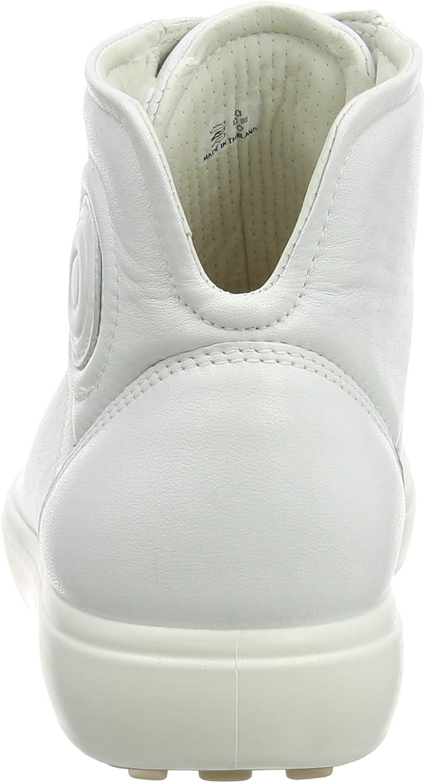 ECCO Soft 7 Ladies, Scarpe da Ginnastica Alte Donna Bianco White 1007 aGwODu