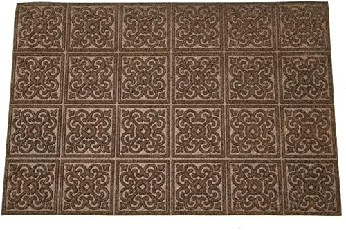 Rubber-Cal Contemporary Holiday Door Mats Modern Doormat, 18 by 30-Inch