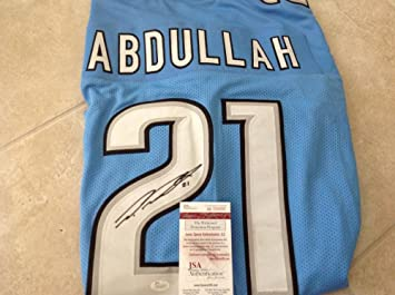 Ameer Abdullah Autographed Jersey Custom Large W958993 JSA  hot sale