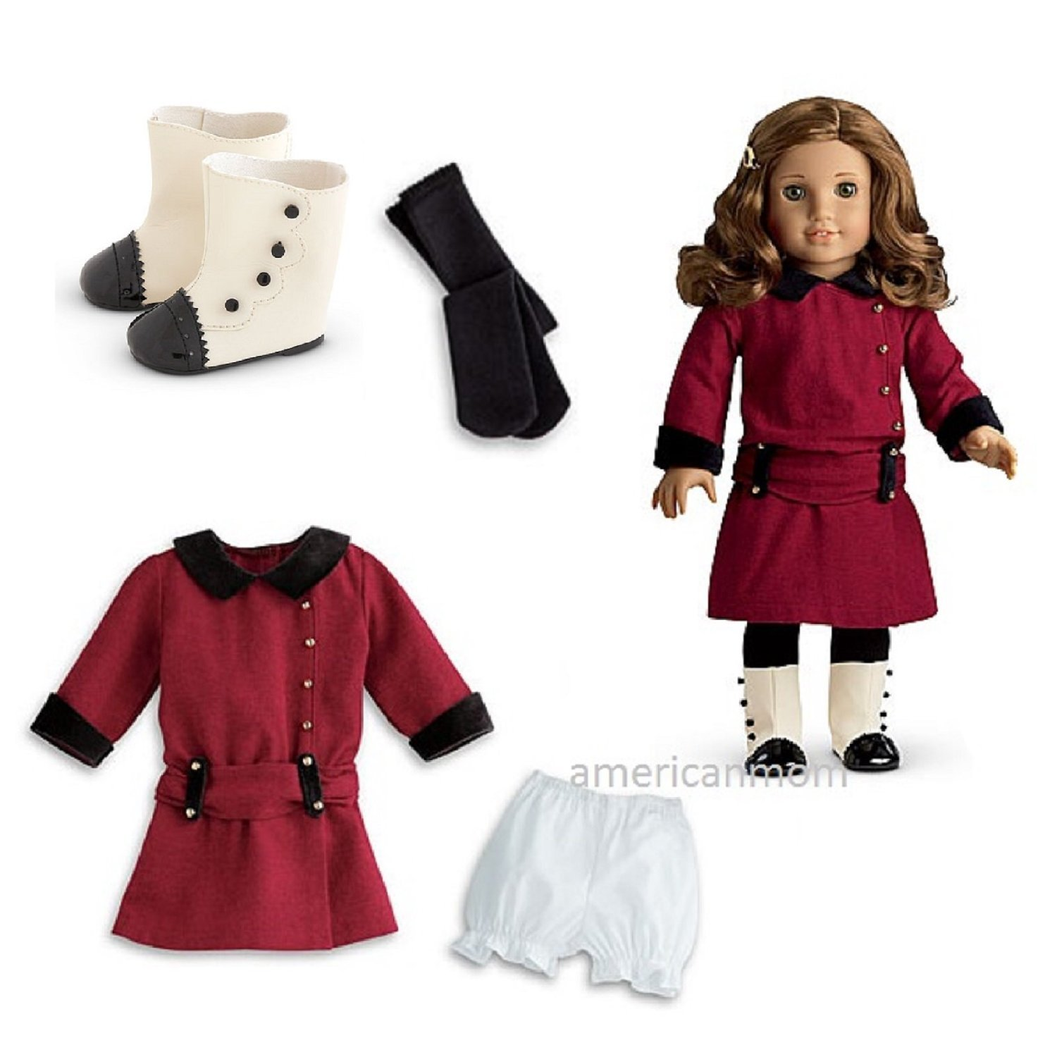 American Girl Rebecca's Not Classic Meet Outfit Outfit with Boots with for 18