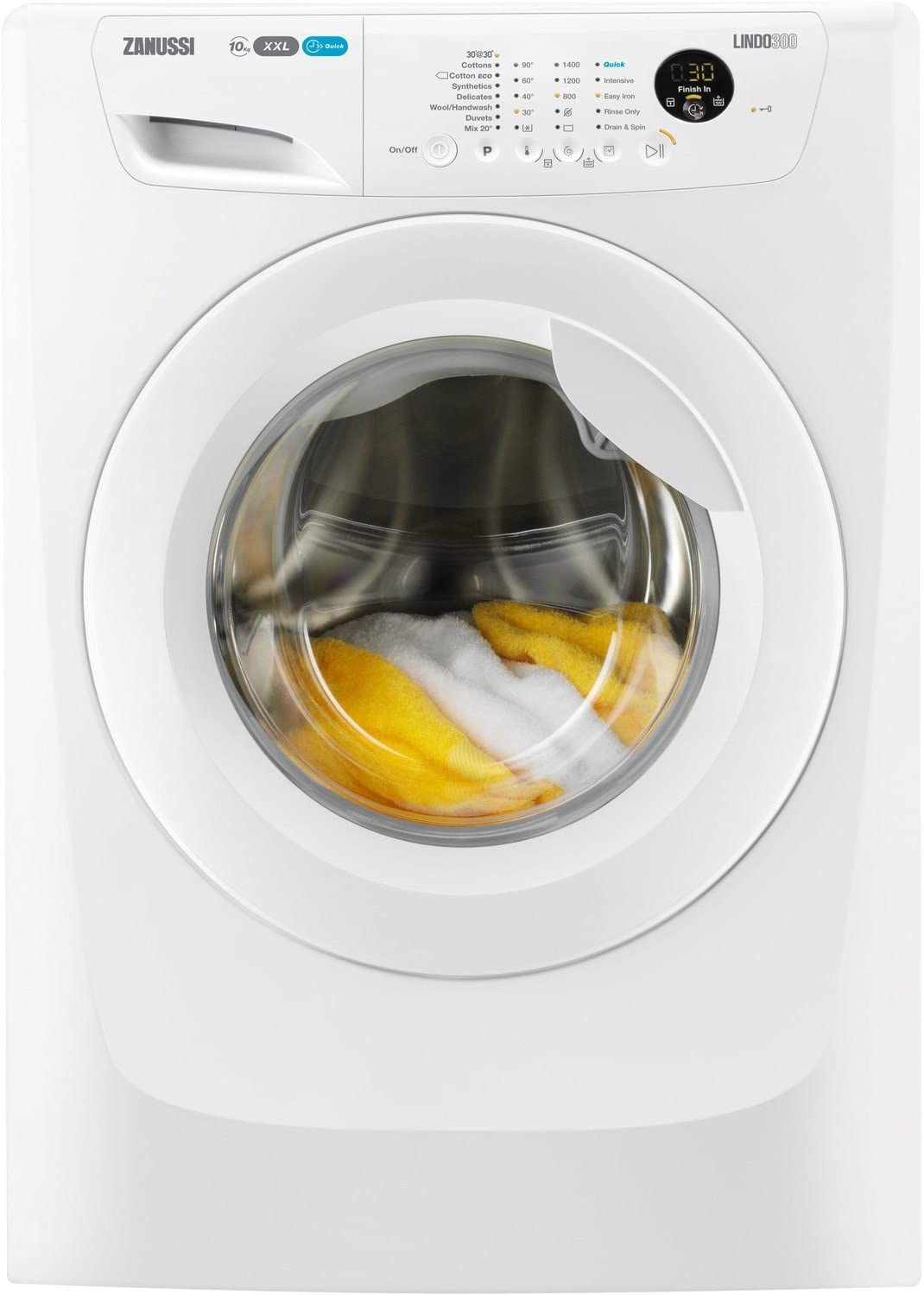 Zanussi LINDO300 Independiente Carga frontal 10kg 1400RPM A+++ Blanco - Lavadora (Independiente, Car