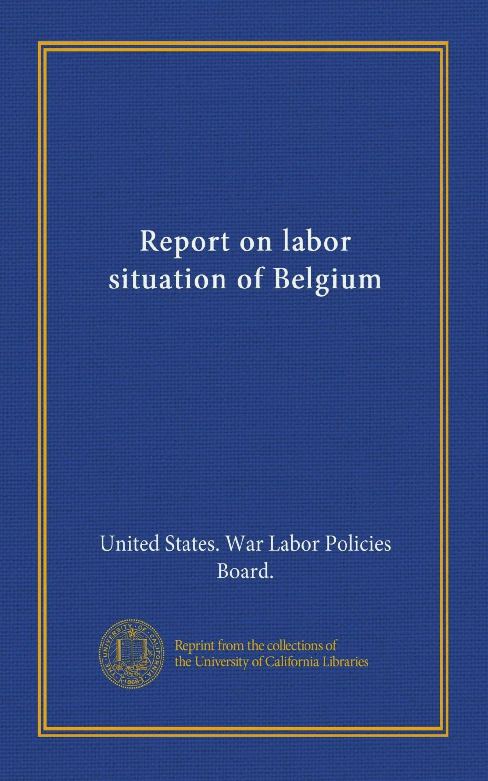 Download Report on labor situation of Belgium (Vol-1) pdf