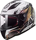 LS2 Casco de moto FF353 RAPID BOHO Blanco Negro Rosa, Blanco/Negro/Rosa, S