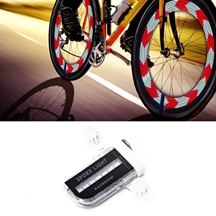 iCoco resistente al agua de 14 Llanta luces LED para bicicleta con 30 de colores,