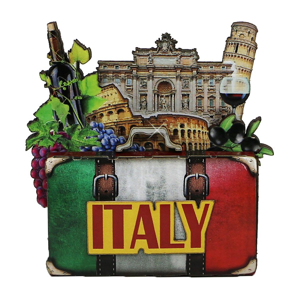 City-Souvenirs Italy Magnet 4 Inch 3D Italian Magnet with Landmarks