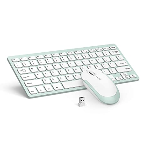 b3411109c01 Wireless Keyboard Mouse, Jelly Comb 2.4GHz Ultra Thin Compact Portable  Small Wireless Keyboard and