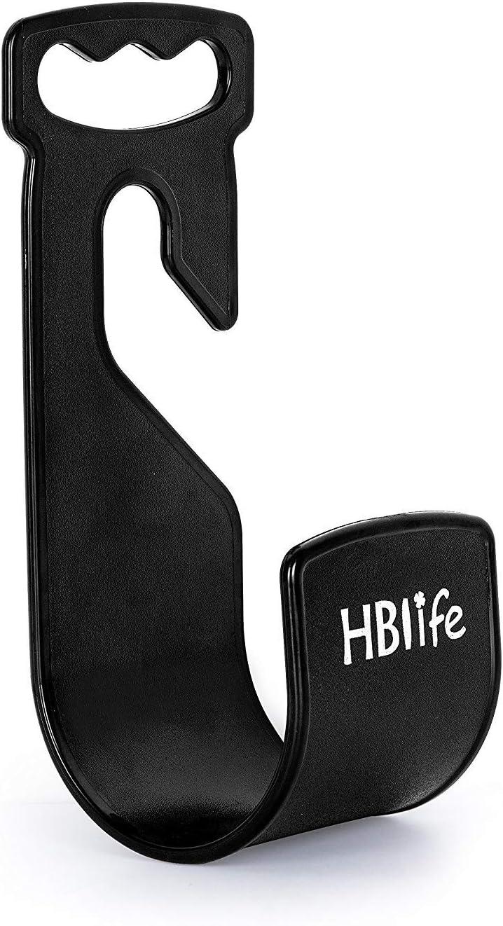HBlife Garden Hose Hanger Durable Wall Mount Hose Holder Rust-Free Hook Fit to 25ft 50ft 75ft 100ft 150ft Water Hose Black