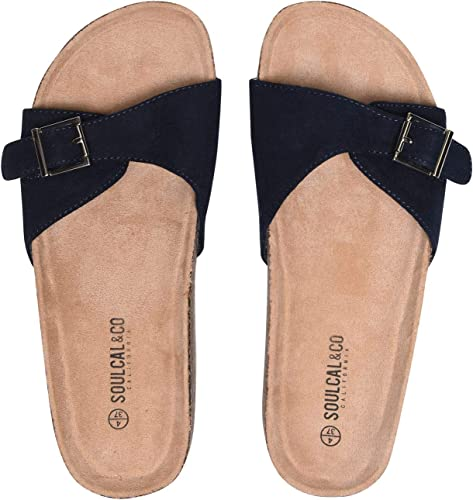 Soul Cal Womens Sliders Pool Shoes Slip On Strap