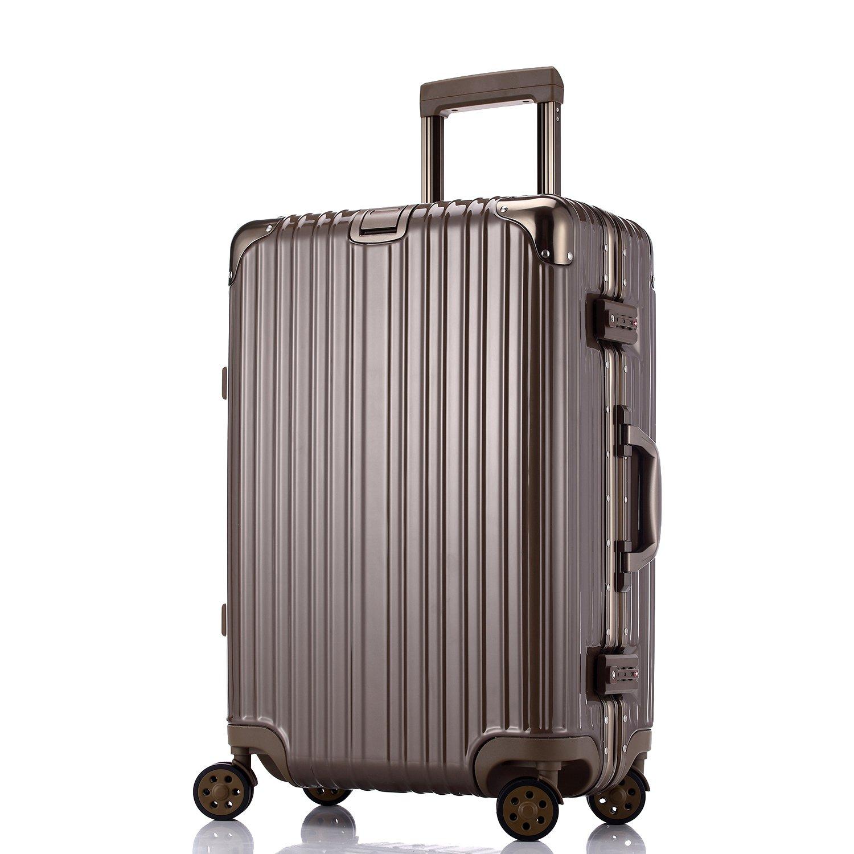 Unitravel スーツケース TSAロック搭載 キャリーバッグ 【1年修理保証】 超軽量 トランク 旅行 出張 大容量 静音8輪 s型 キャリーケース 機内持込可 B071L8VF1L 褐色 L (24)型