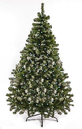 Weihnachtsbaum Christbaum Tannenbaum 120 bis 240 cm mit Lichterkette kaltweiss