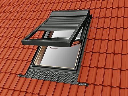 Persiana eléctrica de control remoto para ventanas de techo, compatible con las ventanas de techo Solstro, Velux, Fakro, Rooflite, Optilight y Dakstra (tamaños C04, C4A, 02:55/98): Amazon.es: Hogar