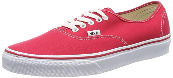 Vans Authentic Sneakers Unisex Erwachsene Rot