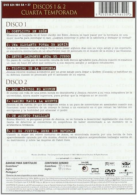 Angela Landsbury - ANGELA LANSBURY - Se Ha Escrito Un Crimen 4ª Temp. [Import espagnol] (6 DVD) - Amazon.com Music