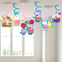 PARTY PROPZ™ Peppa Pig Swirls Hanging Set of 6/ Peppa Pig Party Supplies/ Peppa Pig Party Decoration