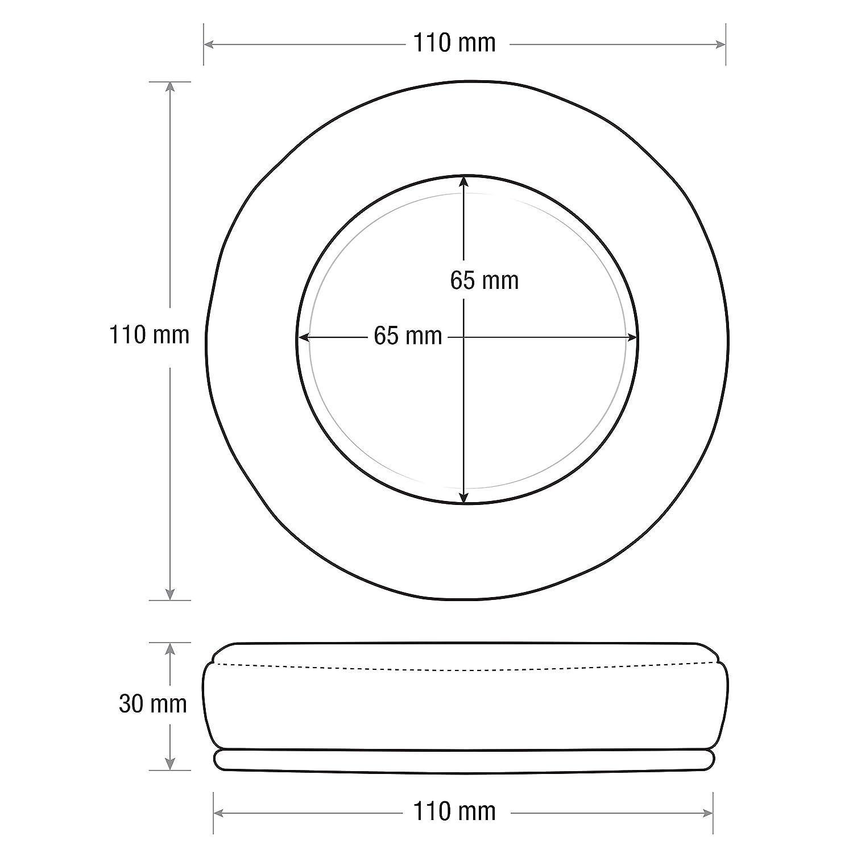 Brainwavz XL Micro Daim Coussinets Mise /à Niveau pour AKG 701/et Convient pour de Nombreux Autres Casques/ Fostex /Sennheiser ATH Philips HiFiMAN AKG Sony