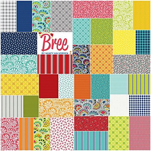 Nancy Halverson Bree 5X5 Pack 42 5-inch Squares Charm Pack (Nancy Floral Quilt)