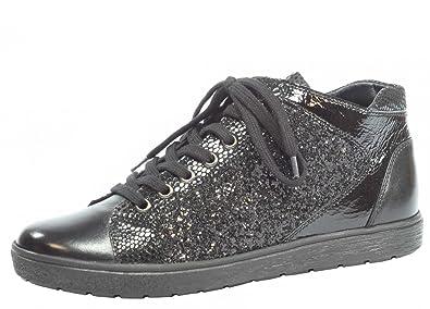 Caprice »Leder« Sneaker, schwarz, schwarz