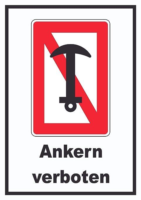 Cartel Prohibido con impresión de HB_Ankern, A1 (594x841mm ...
